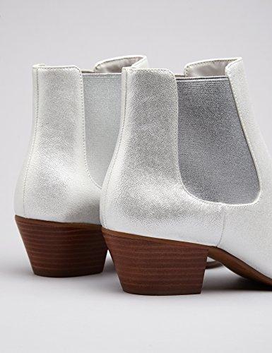 Vinyl FIND Women's Silver Boot Western Fa6aAq