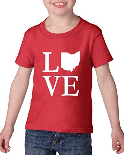 Ugo Ohio OH Cincinnati Map Bearcats Buckeyes Home of Ohio State University Heavy Cotton Toddler Kids T-Shirt - Dress Zone Store Da