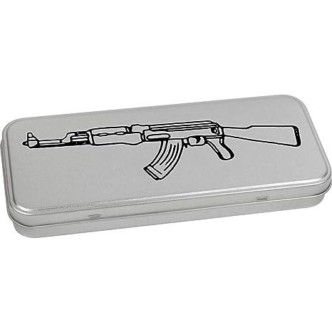 Azeeda 180mm x 75mm AK47 Arma Caja de Almacenamiento / Lata de Metal (
