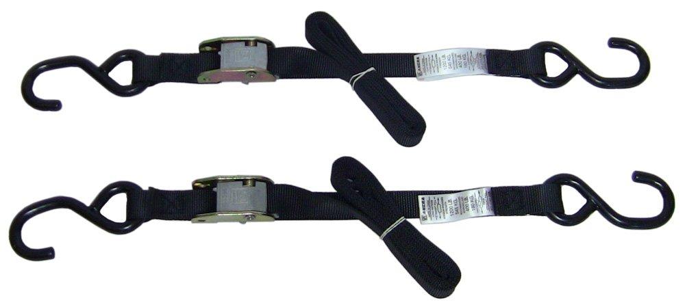 Ancra 40888-26-04 Black Original Premium Cam Buckle Tie Down, 8 Pack by Ancra (Image #1)