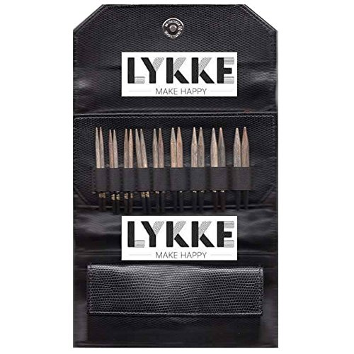 Lykke 3.5'' Driftwood Interchangeable Gift Set in Black Faux Leather Pouch