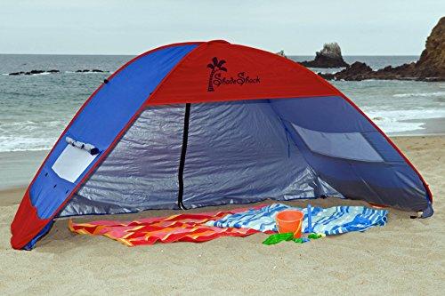 Large Pop Up Shelter : Shade shack instant pop up sun shelter blue red extra