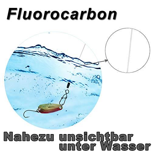 6 x Raubfischvorfach Hechtvorfach zum Hechtangeln Croch Fluorocarbon Vorfach Leader Spinnvorf/ächer zum Spinnfischen