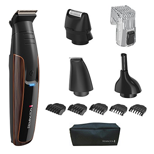 - Remington PG6170 The Crafter: Beard Boss Style and Detail Kit, Beard Trimmer with Titanium-Coated Blades (11 Pieces), Copper