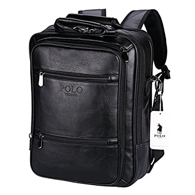 7fe15dbe2567 POLO VIDENG Handbags Backpack Leather Business Travel School Bags Fit for  13 15 17 inch 30