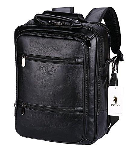 POLO VIDENG Laptop Handbags Backpack Leather Shoulder Bag Bu