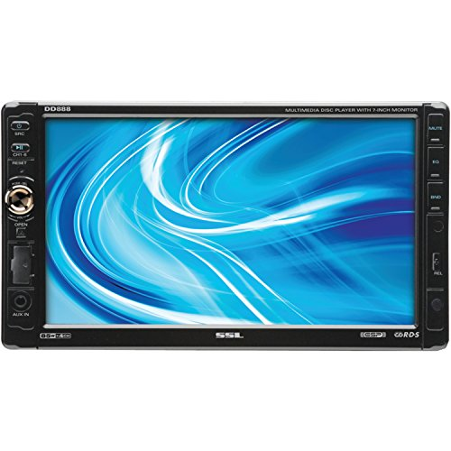 (Sound Storm DD888 Double Din DVD/CD/MP3/USB/SD AM/FM Receiver, 7