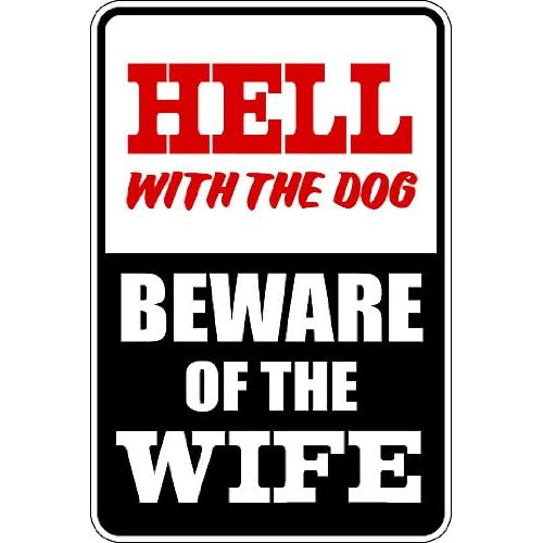 """Hot (Misc30) Reserved Beware of the Wife Humorous Novelty Parking Sign 9""""x12"""" Aluminum hot sale"""