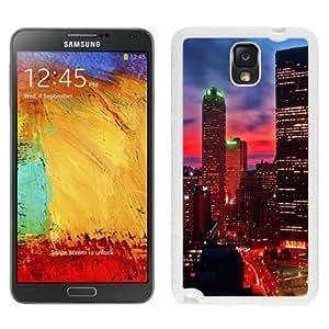 NEW Unique Custom Designed Samsung Galaxy Note 3 N900A N900V N900P N900T Phone Case With Miami At Night City Lights_White Phone Case