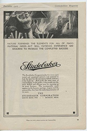 1913 Studebaker Motor Car South Bend IN Auto Ad American Woolen Co