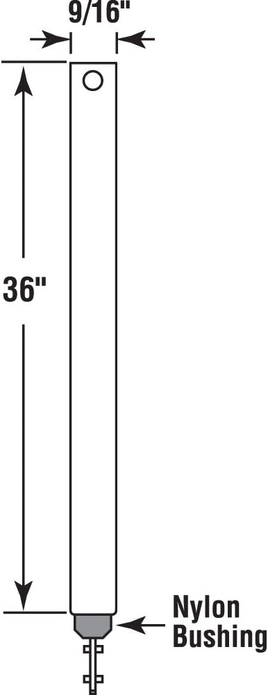 Prime-Line Products FH 3620 Spiral Tilt Balance Red 9//16-Inch