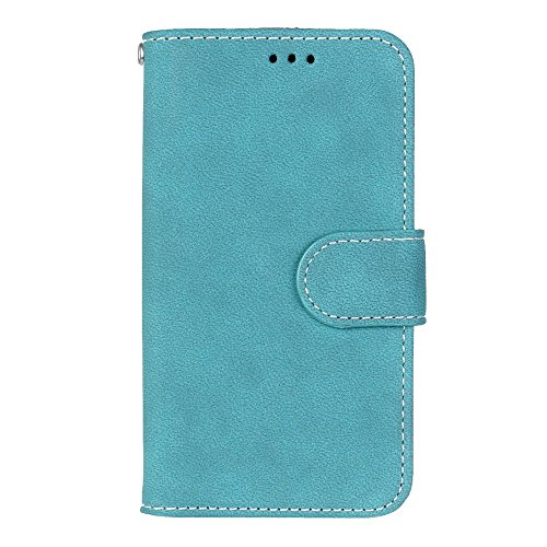 YHUISEN Cartera de cuero de la PU de la caja de cuero de la cubierta del estuche de la cubierta de la cubierta protectora del caso del folio con la ranura para tarjeta / soporte para Huawei Y5 / Huawe Blue