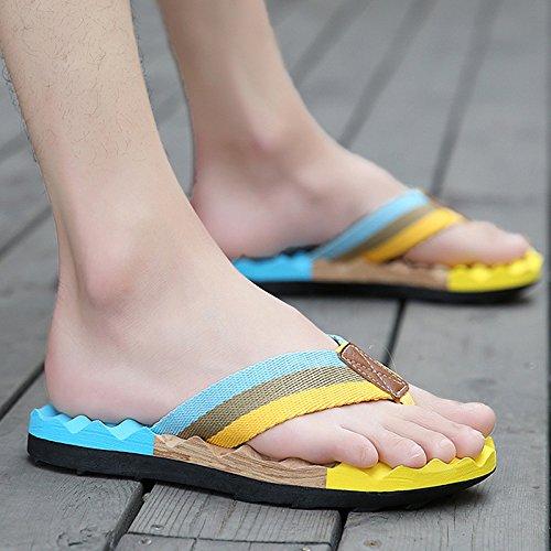 Xing Lin Sandalias De Hombre La Pendiente Con La Hembra Verano Zapatillas Nuevas Fuera De Tacón Sandalias Y Pantuflas Sandalias De Cuero De Mayor Grosor Moonlight