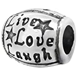 Zable Sterling Silver Live Love Laugh Bead / Charm