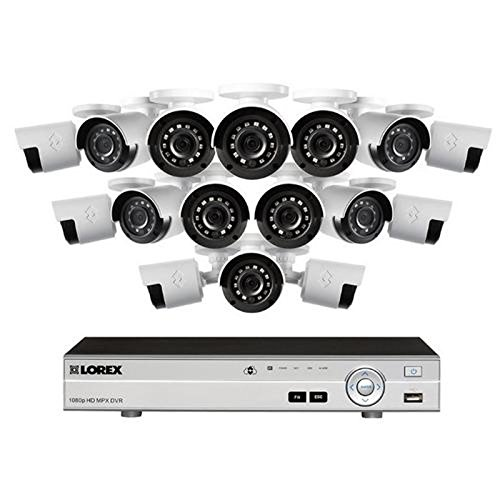 Lorex 16 Channel 1080p HD Security System with, 2TB HDD, 16 1080p Bullet Cameras, and 130' Night Vision by Lorex