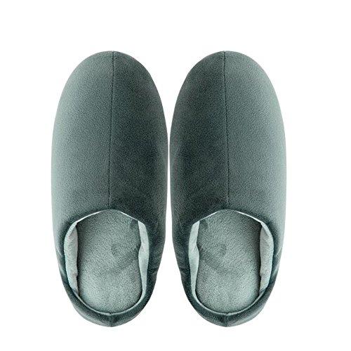 Pour 1 Vert Confort De Chaussons Hommes Pantoufles 4gdCzqw4