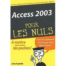 Access 2003 poche..  nuls