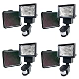 iGlow 4 Pack Black 60 Bright White SMD LEDs Outdoor Garden Solar Powered Motion Sensor Security Flood Light Spot 80 100