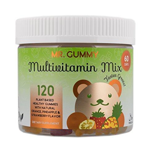 Mr Gummy Vitamins Multivitamin Mix Gummies Natural & Healthy | Support Heart, Skin & Brain Health with Vitamins & Minerals | [120 Gummies, 60-Day Supply] | Kids Vitamins