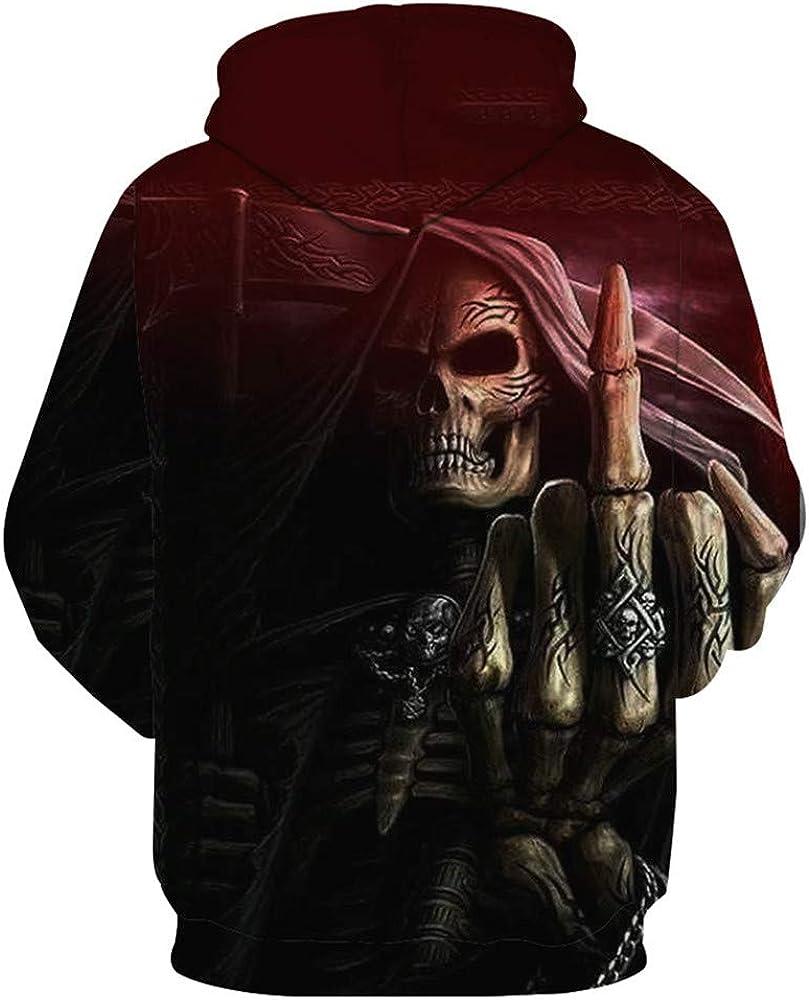 Skull 3D Print Pullover Hoodie