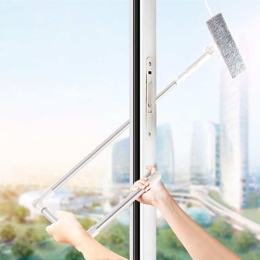 BEITAI Cepillo Limpiador de Vidrio de Alto alzado para Limpiar Ventanas de Lavado, rasqueta de Microfibra, Extensible, Robot, Limpieza de Ventanas: Amazon.es: Hogar