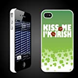 "St. Patrick's Day Irish Designed ""Kiss Me, I'm Irish"" - iPhone Hard Case - White Protective iPhone 4/iPhone 4S Case."