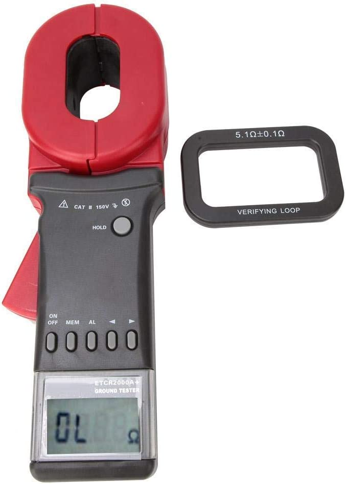 Multimeter ETCR2000A Digital Clamp Meter On Ground Earth Resistance Tester with LCD Display