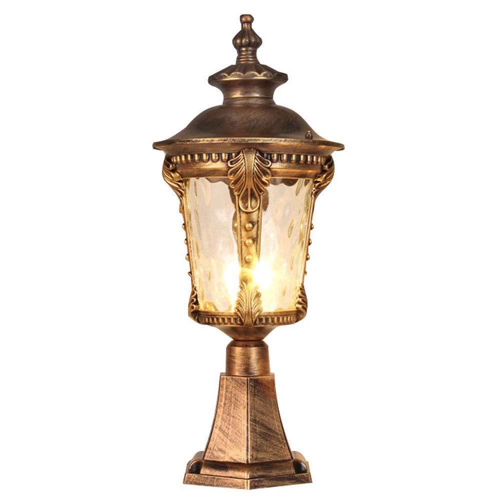 Waterproof Wall Light/Outdoor Column Head Light/Villa Garden Door Light/Door Light/Garden Light/Wall Lamp (Color : Bronze 2)