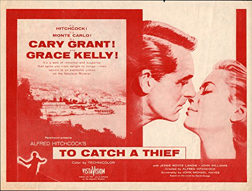 To Catch A Thief Original Movie Herald 1955 Cary Grant Grace Kelly Hitchcock