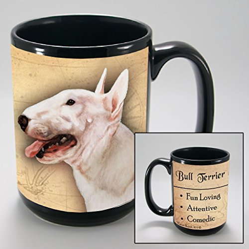 Bull Terrier Mug (Dog Breeds (A-K) Bull Terrier, White 15-oz Coffee Mug Bundle with Non-Negotiable K-Nine Cash by Imprints Plus (039))