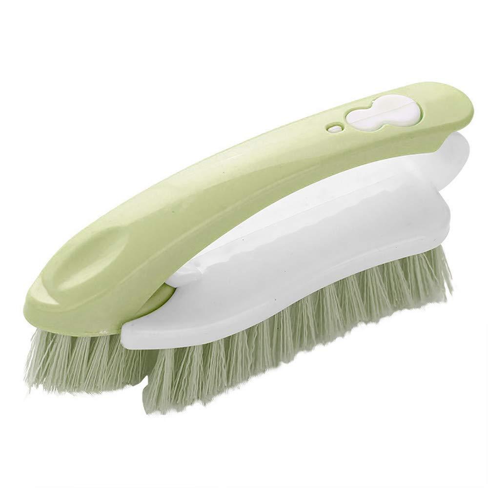 Baulody Non-Stick Kitchen Wash Washing Tool Bowl Palm Brush Shoe Scrubber Cleaning Brush (Green)