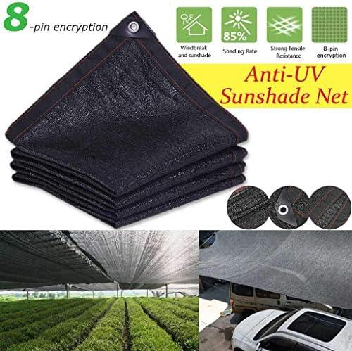 WXFQY Nero Ombra Net, HDPE Anti-UV Parasole Net Esterna del Giardino Auto Solare della Copertura del Panno di ombreggiatura 85% Tasso Crittografia Multifunzionale (Size : 3 * 6m)