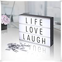 Free Combination Cinematic Light Box with Letters and Decorative Letter White LED Light A4 Size 90 Letters symbols Home Bar Party Decor