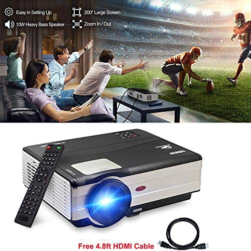 Movie Projector LCD HDMI 1080P 3500 Lumens, Home Theater Multimedia Projector Outdoor Video Games Support Full HD USB VGA for PC Laptop Smartphone TV Box Amazon Fire TV Stick with HDMI Cable