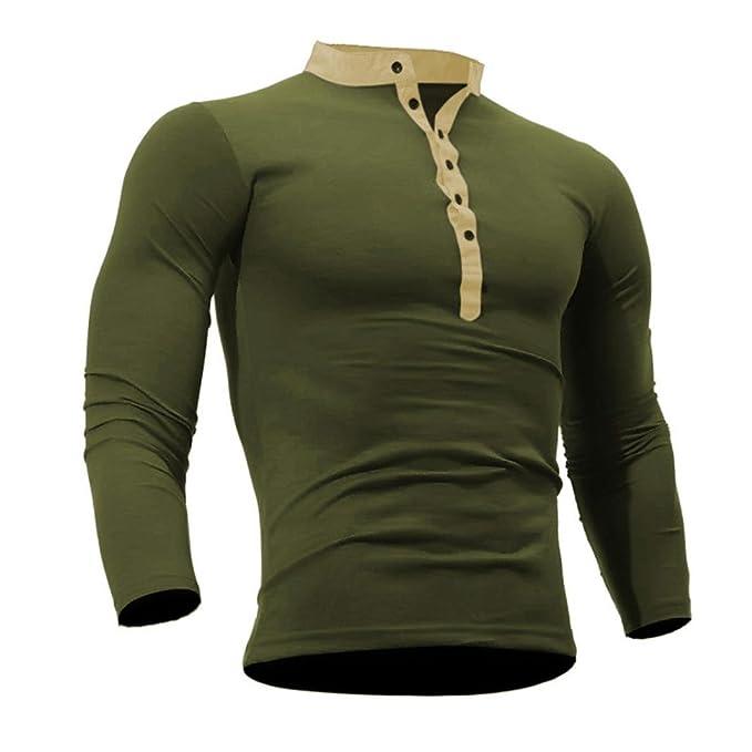 Challeng Shirts Herren Männer Baumwolle T Shirt Frühling Herbst,Männer Einfarbig T Shirt Langarm Top,Herren Langarm Shirt,Langarm Shirt Männer