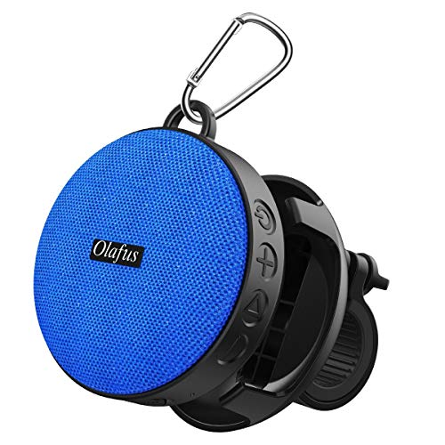 Olafus Bluetooth Bike Speaker with Detachable Bicycle Mount & Hook, IPX7 Waterproof, Shockproof & Dustproof for Outdoor Riding, Bluetooth 5.0 & HD Sound, 10H Playtime Built-in Mic, Support 32G TF Card