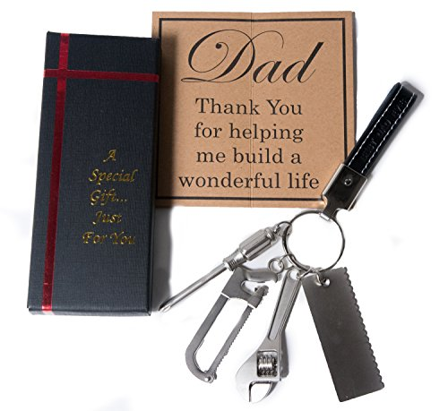 Christmas Gifts for Dad from Daughter - Dad Gifts - Dad Keychain - Gifts for Dad - Best Dad Gifts - Fathers Day Gifts - Keychain for Dad from Daughter and Son