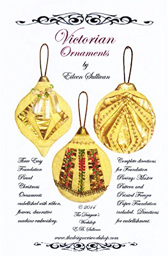 Victorian Paper Piecing Craft Kit Pattern for Three Ornaments