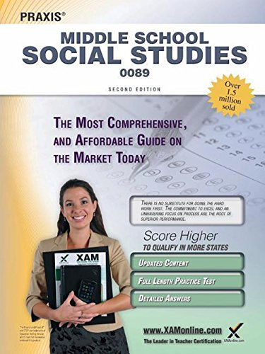 Praxis Middle School Social Studies 0089 Teacher Certification Study Guide Test Prep