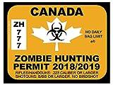 Canada Zombie Hunting Permit (Bumper Sticker)