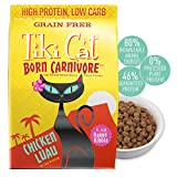 Tiki Cat Born Carnivore Grain-Free, Low-Carbohydrate Dry Cat Food Baked with Fresh Meat, Chicken Luau, 5.6 lbs Larger Image