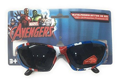 Pan Oceanic Marvel Avengers Captain America Sunglasses - Shatter Resistant Lenses 100% UVA & UVB Protection -