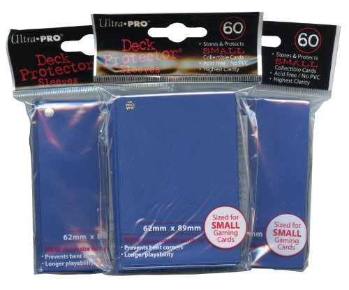 Ultra Pro Card Supplies YuGiOh Sized Deck Protector Sleeves Royal Blue 60 Count x3 ()
