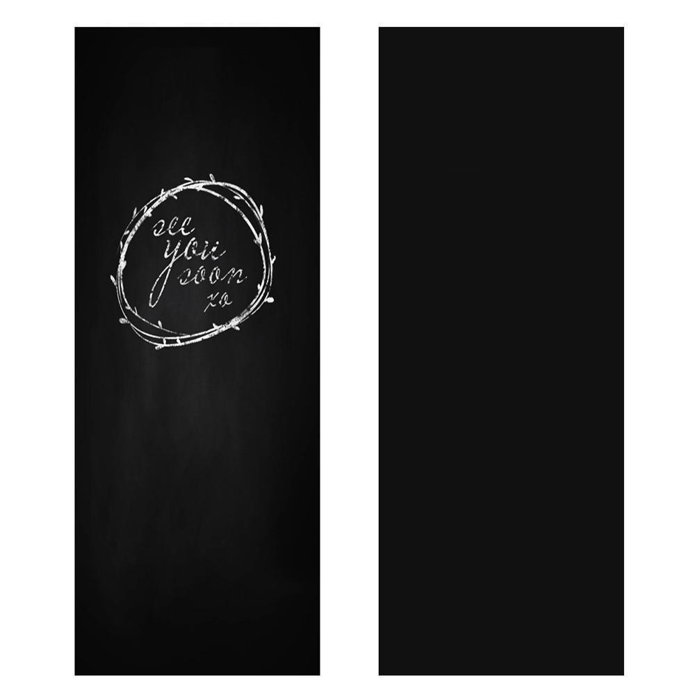 Yahee Papel Negro Adhesivo para Pizarra Removable–Vinilos Autoadhesivos Pantalla 60cm x 200cm Negro