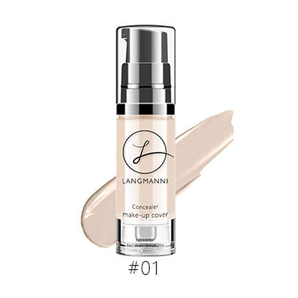 Liquid Foundation Makeup Concealer Brightening Skin Color Waterproof No Melting Makeup BB Cream Anti-Blemish Solutions Liquid Makeup Blue-Yan
