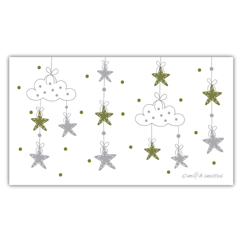 50 Twinkle Twinkle Little Star Diaper Raffle Tickets | Gender Neutral Baby Shower Game by m&h invites (Image #4)