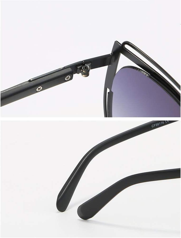 YJLC Occhiali da Sole Cat Eye Donna Oversized Retro Lady Fashion Shades Occhiali Eyewear Uv400 Nero