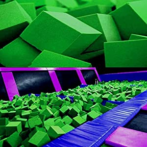"Foam Pits Cubes/Blocks 108 pcs. (LIME GREEN) 4""x4""x4"" (1536) Flame Retardant Pit Foam Blocks For Skateboard Parks, Gymnastics Companies, and Trampoline Arenas"