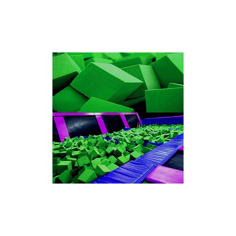 "Foam Pits Cubes/Blocks 108 pcs. (LIME GREEN) 4""x4""x4"" (1536) Flame Retardant Pit Foam Blocks For Skateboard Parks, Gymnastics Companies, and Trampoline Arenas"