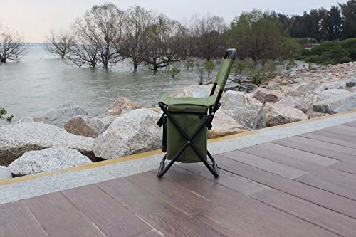 BeGrit Multi-Purpose Cooler Chair Folding Stool with Cooler Bag for Hiking Fishing Camping Picnic Backpacking by BeGrit (Image #1)